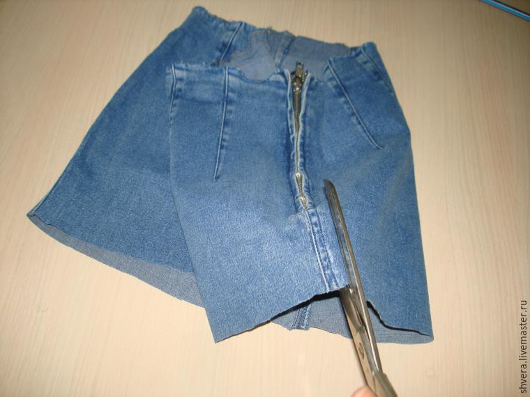 Джинсовая юбка для девочки сшить своими руками 44