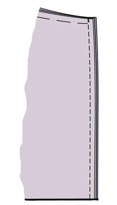 Как сшить прямую юбку с одним швом на резинке 20