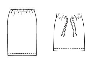 Выкройка в натуральную величину юбки спираль